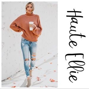 MAXIE_Rolled Knit Sweater